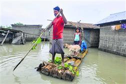 मानवीय हस्तक्षेप से बाढ़ का विस्तार