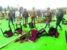 किसानों ने नहीं होने दी सीएम की महापंचायत