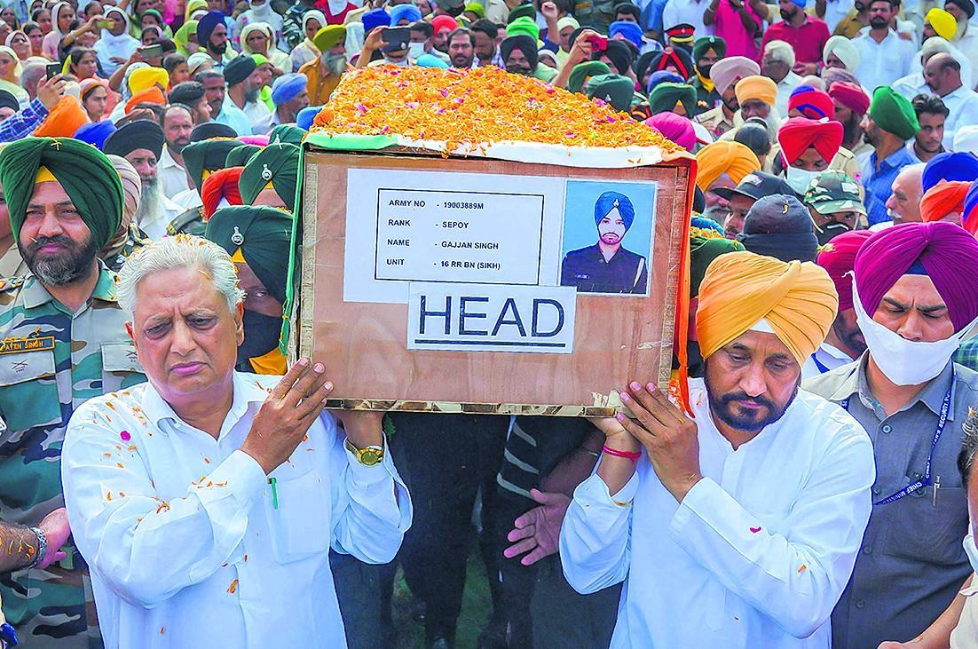शहीद जवानों को पंजाब ने दी नम आंखों से अंतिम विदाई