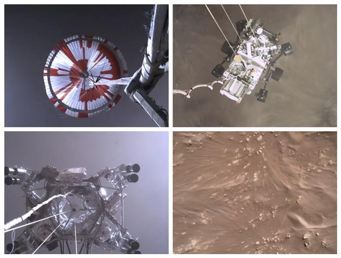 नासा ने मंगल पर उतरते रोवर की जारी की वीडियो!