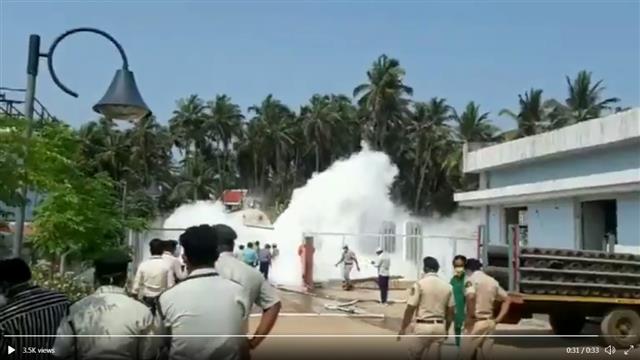 गोवा के कोविड अस्पताल में लीक हुई ऑक्सीजन