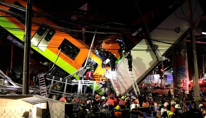 मैक्सिको सिटी में मेट्रो का पुल गिरने से 23 लोगों की मौत