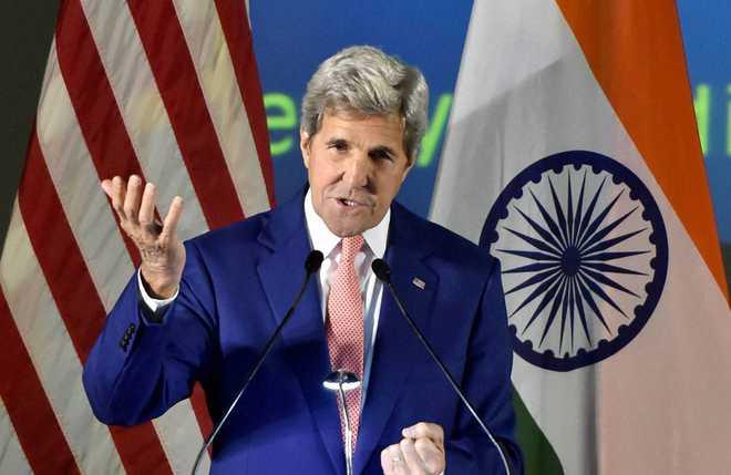 मोदी के 450 गीगावाट नवीकरणीय ऊर्जा के लक्ष्य के मद्देनजर अमेरिका ने की भारत के साथ साझेदारी : केरी