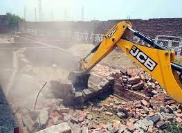 नगर निगम ने ग्वाल पहाड़ी में गिराये अवैध निर्माण