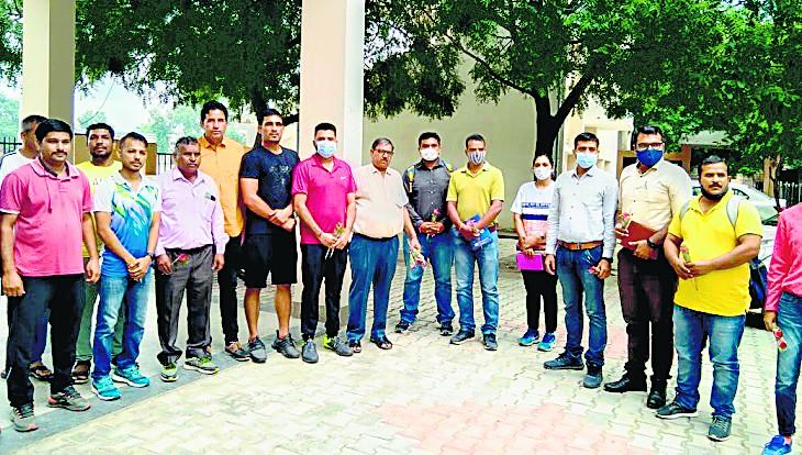हरियाणा का स्पोर्ट्स मॉडल देखने पहुंची गुजरात की टीम